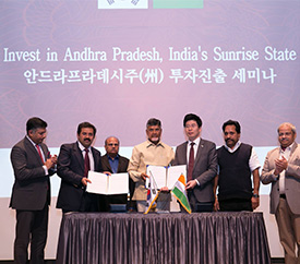 South Korea and Andhra Pradesh sign a MoU to set up a Make in India Centre in Korea Industrial Complex in Andhra Pradesh to set up a Make in India Centre in Korea Industrial Complex in Andhra Pradesh