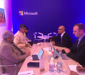 Microsoft offers technological support to Andhra Pradesh.