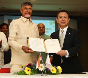 Joint statement between the ministry of economy, trade and industry of Japan and the government of Andhra Pradesh, India for development of new capital city and industrial cooperation.