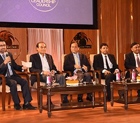 J-krishna kishore CEO APEDB  along with senior corporate leaders in the stage