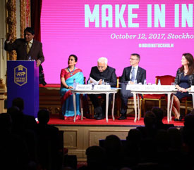 Andhra Pradesh Economic Development Board champions the state at Make in India Sweden 2017