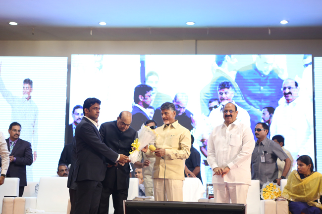 Hon'ble Chief Minister Nara Chandrababu Naidu lays the foundation stone for the Amaravati American Institute of Medical Sciences(AAIMS)