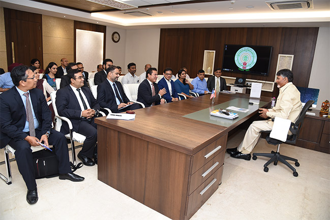 USISPF Leads Delegation Of American Investors Meet Hon'ble Chief Minister Chandrababu Naidu