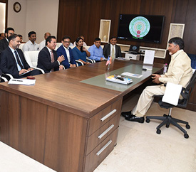 USISPF Leads Delegation Of American Investors to Meet Hon'ble Chief Minister Chandrababu Naidu
