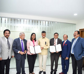 An MoU was signed between APEDB and BLF to promote Andhra Pradesh as an investment destination for investors from UAE.