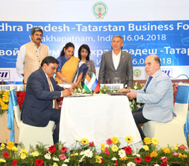 Andhra Pradesh and republic of Tatarstan, Russia, seek to step-up economic ties
