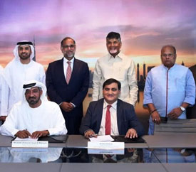 CEO J. Krishna Kishore signs a MoU with his Highness Sheikh Ahmed Bin Saeed Al Maktoum, chairman, Emirates Group