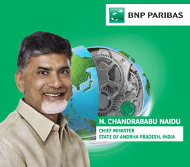 The Hon'ble Chief Minister Mr. Chandrababu Naidu delivered the keynote speech at the BNP Paribas Sustainable Future