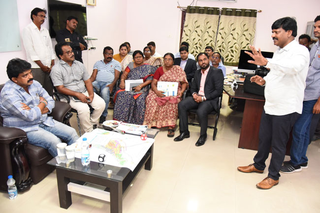 Meeting organized to apprise the Hon'ble Minister for Transport & I&PR, GoAP, regarding the various initiatives undertaken in the Machilipatnam region by MUDA.
