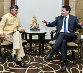 Hon'ble Chief Minister of Andhra Pradesh, Chandrababu Naidu invites French delegation to invest in Andhra Pradesh