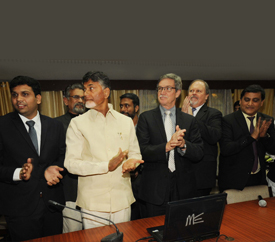 Andhra Pradesh Economic Development Board (APEDB) website(www.apedb.gov.in) launched by Hon'ble Chief Minister of Andhra Pradesh  N. Chandrababu Naidu.