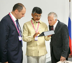 Hon'ble Chief Minister of Andhra Pradesh, Chandrababu Naidu in Russia