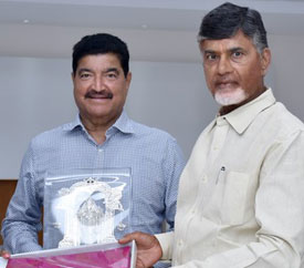 Dr. B.R Shetty of BRS Ventures Abu dhabi meets  Hon'ble Chief Minister of Andhra Pradesh N Chandrababu Naidu in Vijayawada.