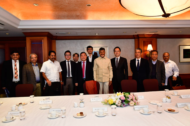 Hon'ble Chief Minister with Mr. Nam Min-Woo, Chairman Dasan Networks Inc.