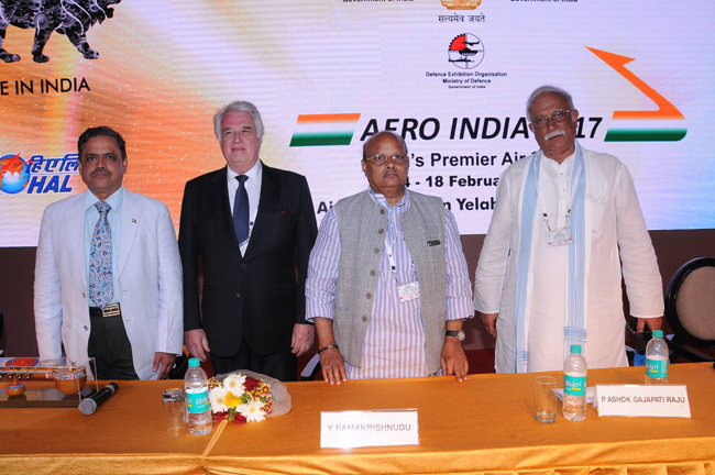 Global CEOs Conclave on Aerospace and Defence Manufacturing Opportunities in Andhra Pradesh at Aero India-2017, Bengaluru.