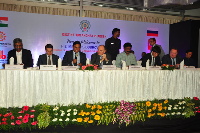 A High-level delegation from the Chelyabinsk region, Russian Federation, visits the state of Andhra Pradesh on a two day state tour.