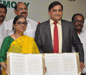 MoU signing between Technology Development Board and Andhra Pradesh Economic Development Board