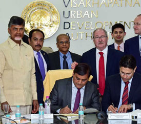 MoU signing between the Indo-UK Institute of Health and Andhra Pradesh Economic Development Board