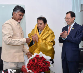 Sany group meeting with Hon'ble Chief Minister of Andhra Pradesh, Chandrababu Naidu