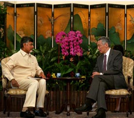 Singapore Prime Minister with Hon'ble Chief Minister of Andhra Pradesh, Chandrababu Naidu