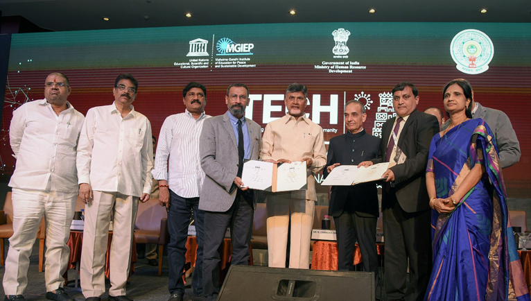 GAPEDB signs a landmark three way MoU with UNESCO & HRD MINISTRY.